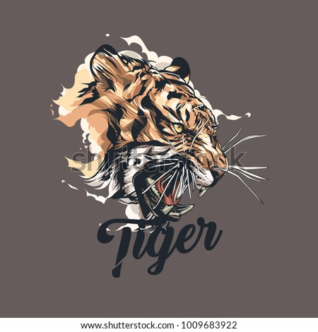 tiger graphic vector design