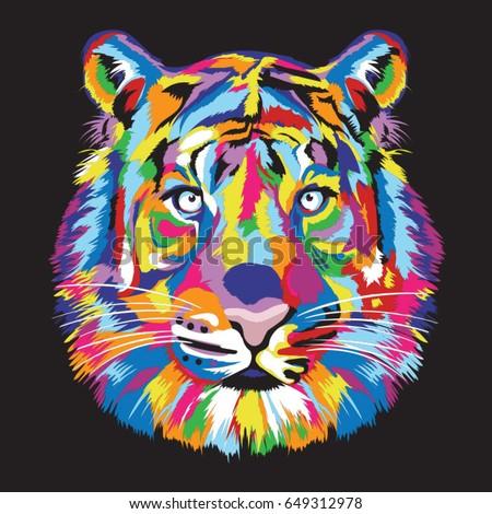 tiger head color full
