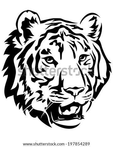 outline picture of tiger free vector download 5072 free vector for commercial use format ai eps cdr svg vector illustration graphic art design