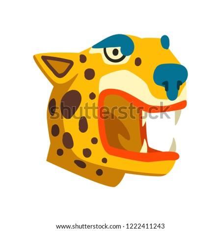 tiger head  maya civilization