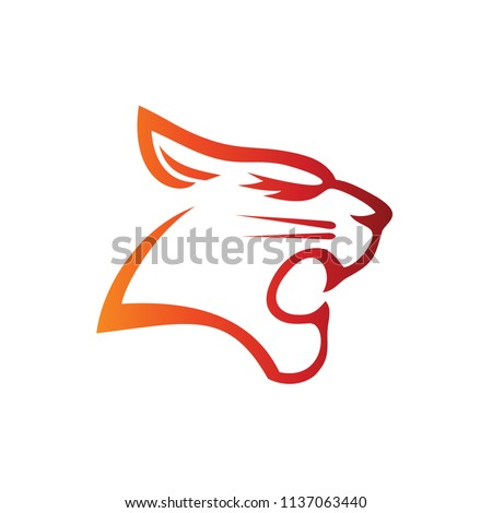 Tiger Head Silhouette Illustration Logo Template