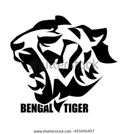 Tiger head logo design - photo#27