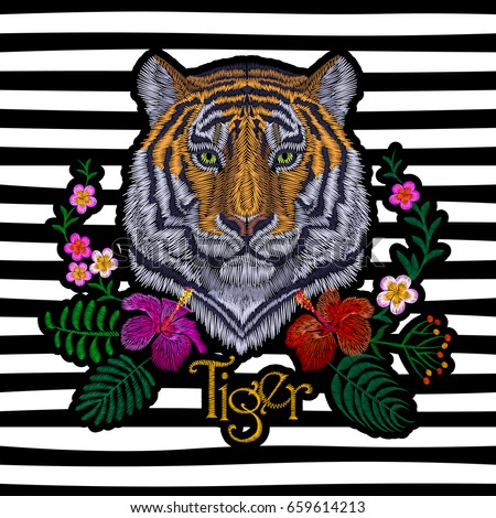 tiger head tropic flower front