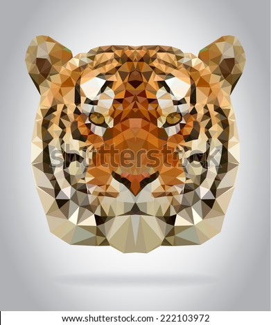 tiger head vector isolated
