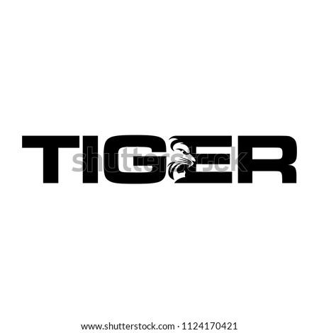 TIGER icon vector logo.