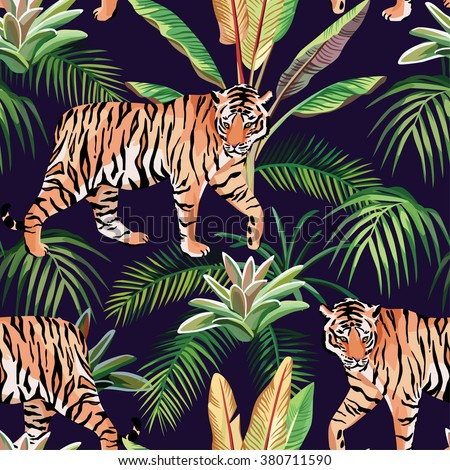 tiger in the jungle seamless
