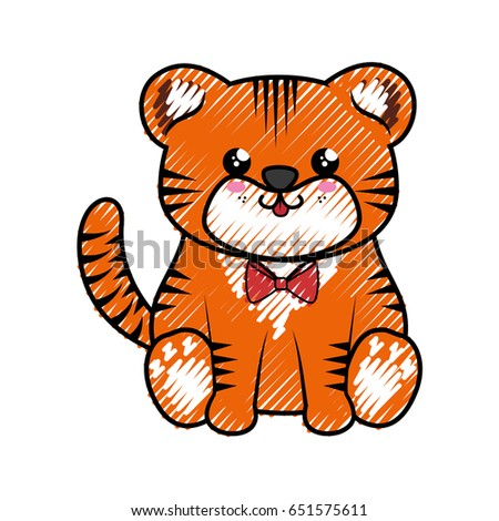 tiger kawaii cartoon