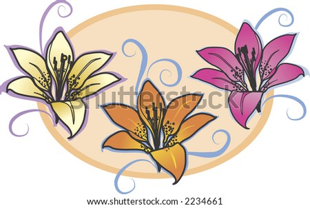 tiger lilies are accented with