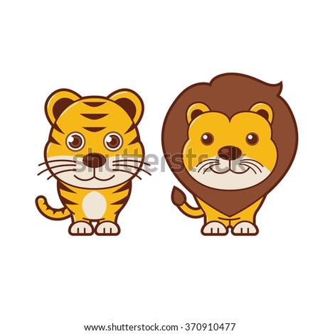 tiger   lion cute animal