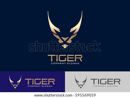 tiger logo template design