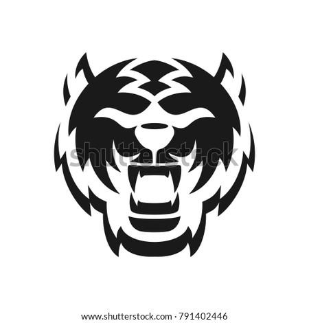 tiger logo vector icon of