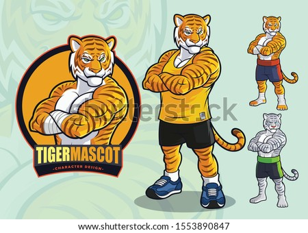 tiger mascot for spots and