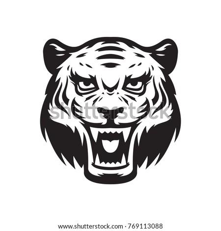 tiger mascot logo wildcat head