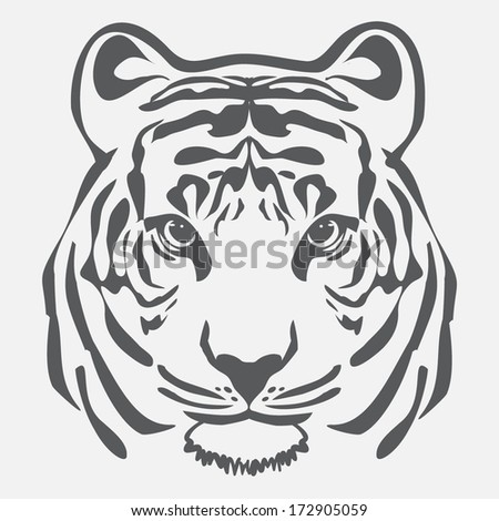 tiger outline illustration