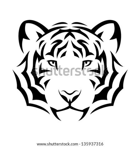 tiger's head tribal tattoo