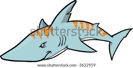Tiger Shark Logo Tiger Shark Vector