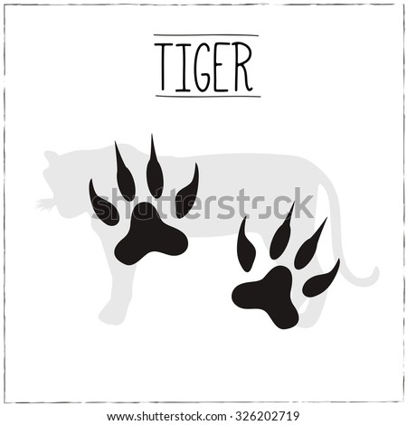 tiger silhouette with trails