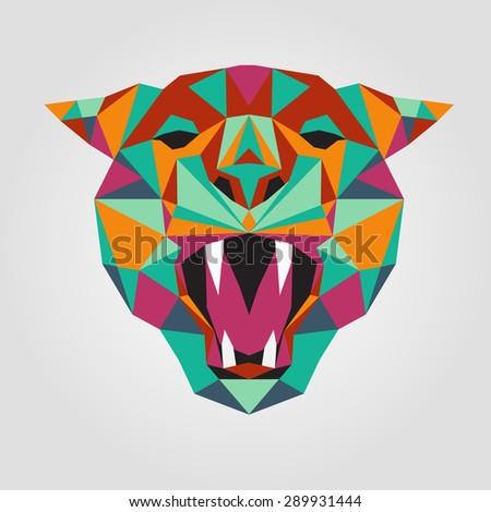 tiger stylized triangle