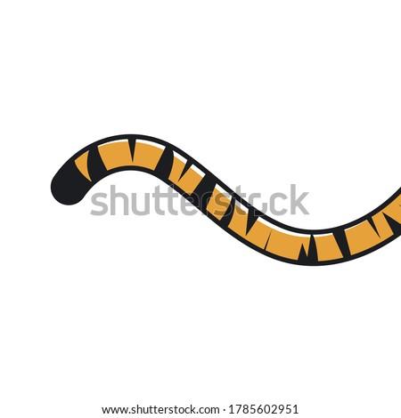 tiger tail icon vector illustration design template Stockfoto ©