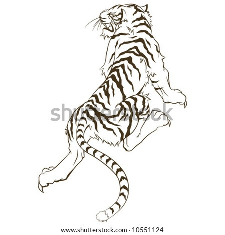 stock vector Tiger Tattoo