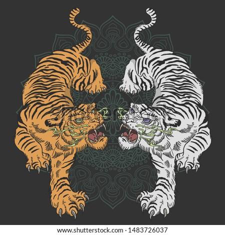 tiger tattoo design wild animal