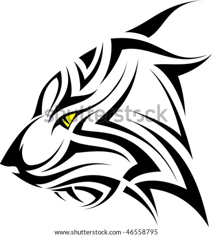 stock vector : Tiger tribal tattoo