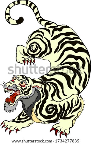 tiger vector for tattoo and