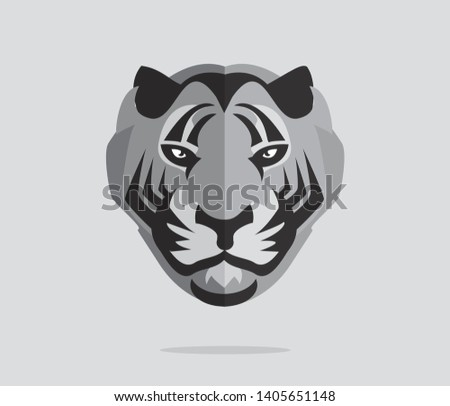 Cartoon Tigers Heads Silhouettes - Download Free Vector Art, Stock