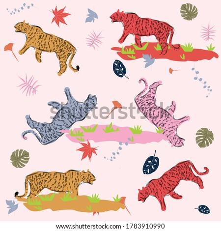tiger vector pattern