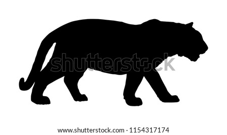 tiger vector silhouette