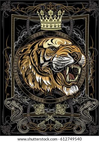 tigers face tiger tattoo