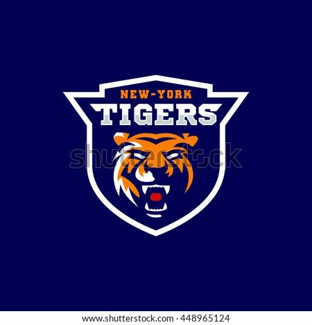 tigers team sport logo emblem