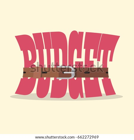 Tight budget and recession shrinking economy concept. Saving money concept