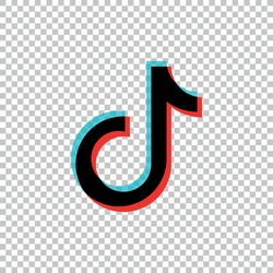 Tik Tok icon.Social media vector.Tik Tok logo design.