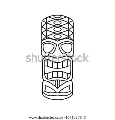 tiki tribal totem head