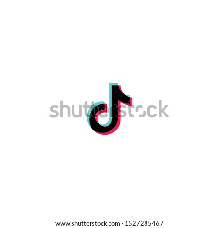 Tiktok logo, tik tok logo, icon. Music, sound, equalizer icon design. Social media
