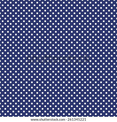 Tile pattern with white polka dots on dark blue background