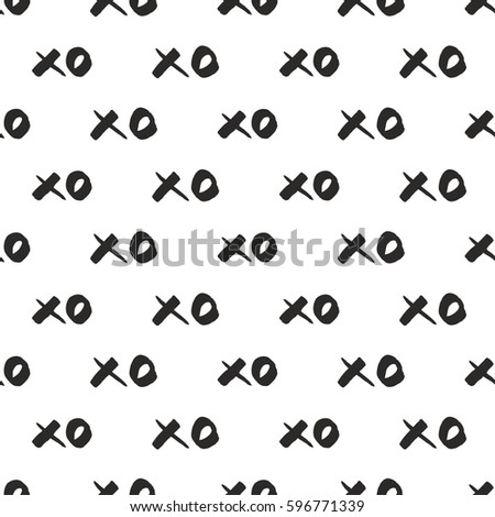 tile vector pattern with black
