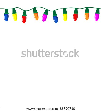 Christmas Lights on Stock Vector   Tileable String Of Christmas Lights  Eps10 Vector  Tile