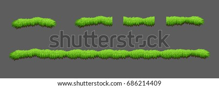 Tiles grass game pack. Vector illustration