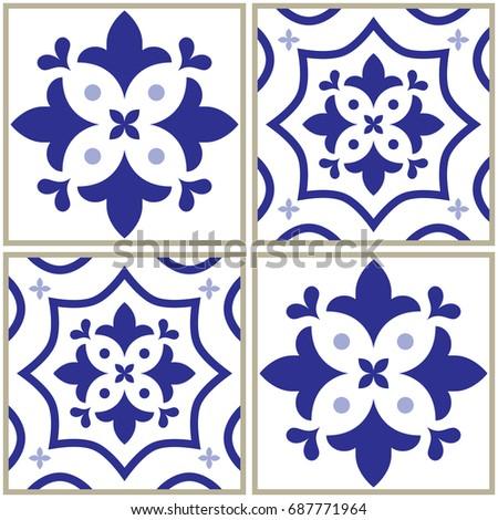 tiles pattern  spanish or