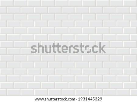 Tiles seamless pattern. White ceramic tile background. Stock photo ©