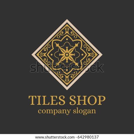 tiles shop logo template design ...