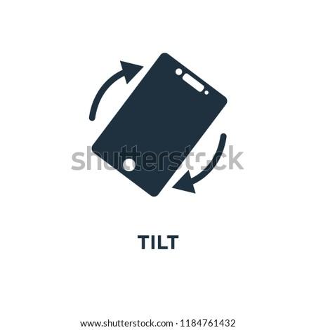 Tilt icon. Black filled vector illustration. Tilt symbol on white background. Can be used in web and mobile.