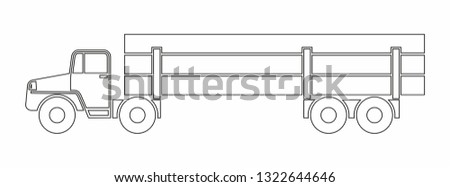Timber carrier, timber carrying. Vector Icon. Simple vector illustration for graphic and web design