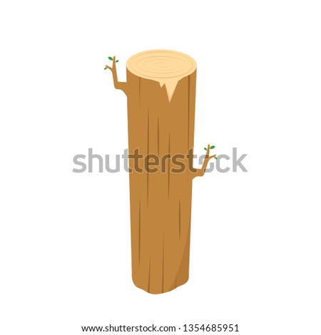 Timber vector. Timber on white background. wallpaper. copy space.
