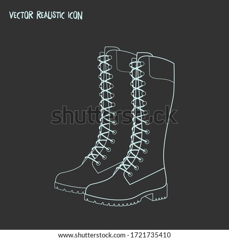 Timberland boots icon line element. Vector illustration of timberland boots icon line isolated on clean background for your web mobile app logo design.
