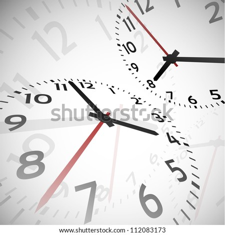 Time abstract theme on gray background