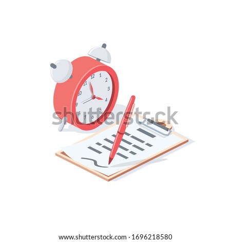 time clock and document pen