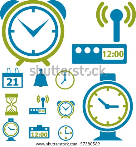 time & clock signs. vector